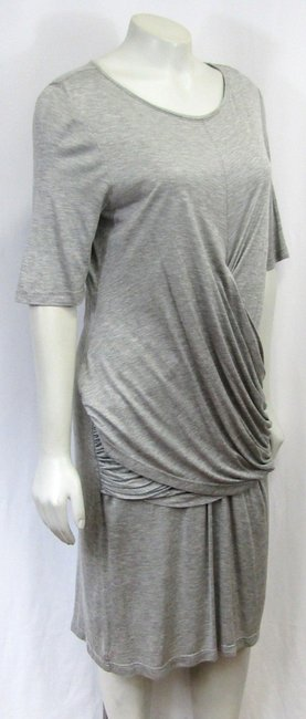 Burberry short dress grey Ruched Large on Tradesy Image 8
