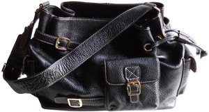 Maxx New York Leather Pebbled Scarf Lining Shoulder Bag