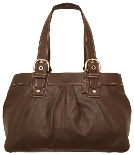 Preload https://img-static.tradesy.com/item/24431641/coach-soho-x-large-pleated-business-shopper-f13733-brown-silver-leather-satchel-0-1-540-540.jpg