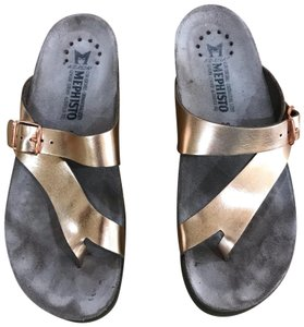 Mephisto Rose Gold Sandals