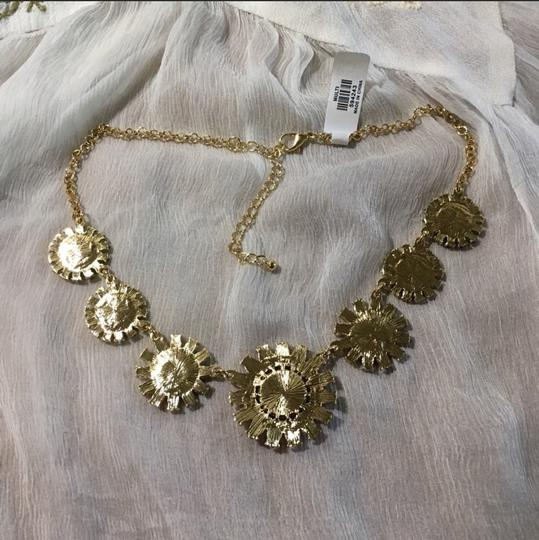 Anthropologie NWT Faceted Daisy Statement Necklace Image 5