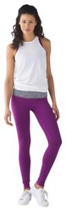 Lululemon Lululemon Wunder Under Pant III (Reversible) Black Regal Plum Mosaic