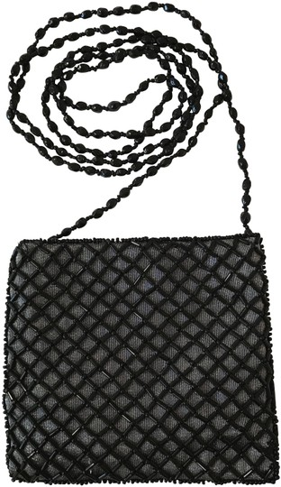 Preload https://img-static.tradesy.com/item/24431691/beaded-evening-with-beaded-chain-black-and-silver-shoulder-bag-0-2-540-540.jpg