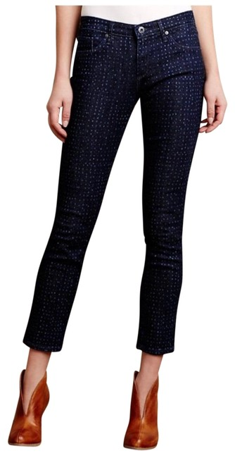 Preload https://img-static.tradesy.com/item/24431694/ag-adriano-goldschmied-dotted-stevie-ankle-sz25-skinny-jeans-size-25-2-xs-0-1-650-650.jpg