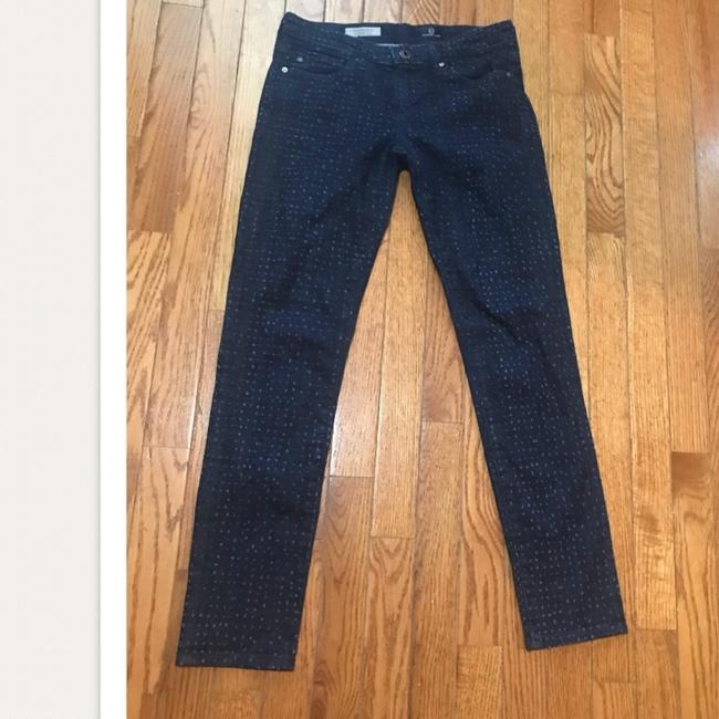 AG Adriano Goldschmied Dotteced Stevie Ankle Skinny Jeans Image 1
