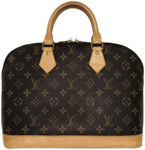 Louis Vuitton Alma Alma Pm Monogram Top Handle Satchel in Brown