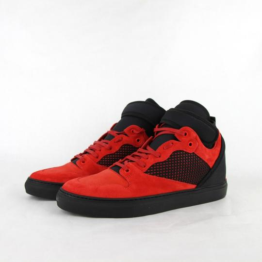 Balenciaga Black/Red Black/Red Suede Leather High Top Sneakers 46/Us 13 412349 6561 Shoes Image 1