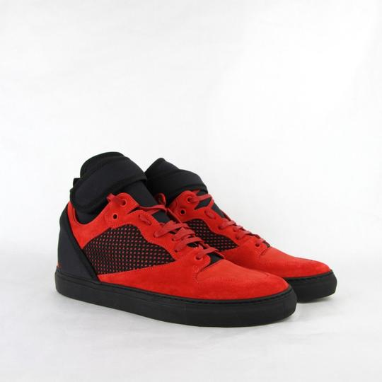 Balenciaga Black/Red Black/Red Suede Leather High Top Sneakers 46/Us 13 412349 6561 Shoes Image 3