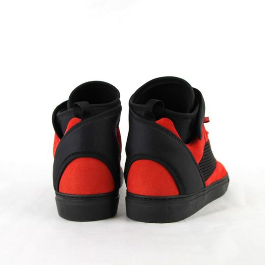 Balenciaga Black/Red Black/Red Suede Leather High Top Sneakers 46/Us 13 412349 6561 Shoes Image 4