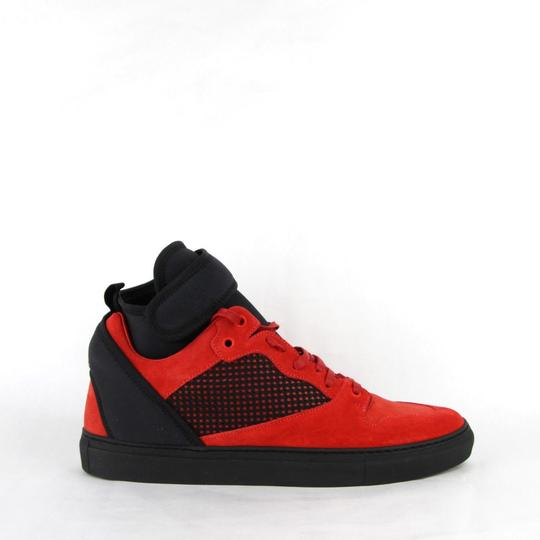 Balenciaga Black/Red Black/Red Suede Leather High Top Sneakers 46/Us 13 412349 6561 Shoes Image 5