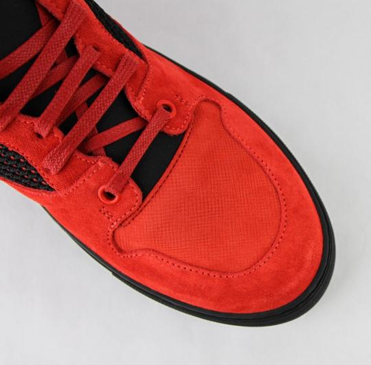 Balenciaga Black/Red Black/Red Suede Leather High Top Sneakers 46/Us 13 412349 6561 Shoes Image 8