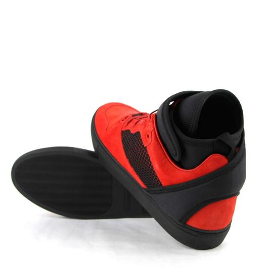 Balenciaga Black/Red Black/Red Suede Leather High Top Sneakers 46/Us 13 412349 6561 Shoes Image 9