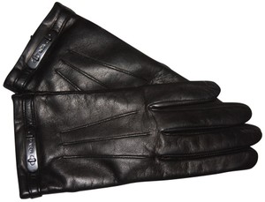 Coach Coach Leather Swagger glove black Women's size 6.5