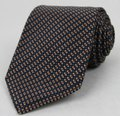 Gucci Blue Brown Men's Striped Woven Silk with Pattern 351810 4365 Tie/Bowtie Image 0