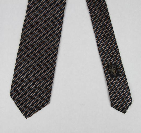 Gucci Blue Brown Men's Striped Woven Silk with Pattern 351810 4365 Tie/Bowtie Image 2