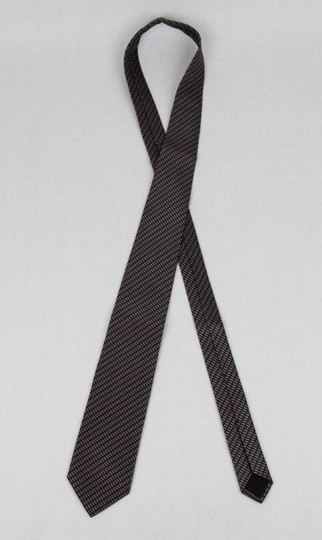 Gucci Blue Brown Men's Striped Woven Silk with Pattern 351810 4365 Tie/Bowtie Image 3