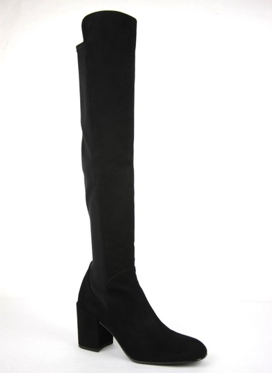 Stuart Weitzman Suede Halftime Stretch-crepe Black Boots Image 1