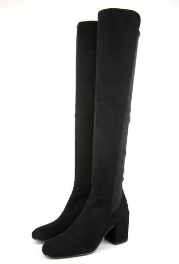 Stuart Weitzman Suede Halftime Stretch-crepe Black Boots Image 2