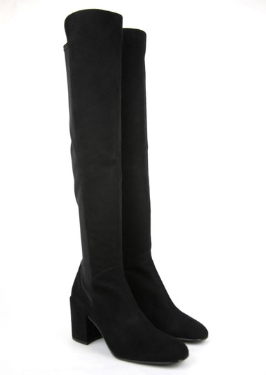 Stuart Weitzman Suede Halftime Stretch-crepe Black Boots Image 4