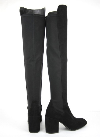 Stuart Weitzman Suede Halftime Stretch-crepe Black Boots Image 5
