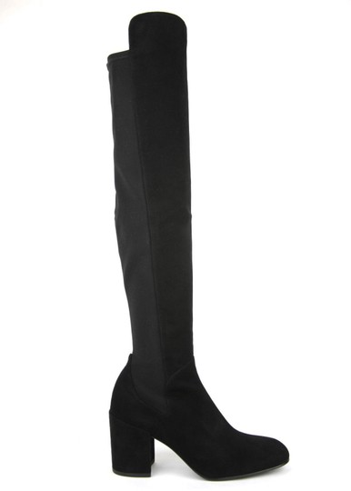 Stuart Weitzman Suede Halftime Stretch-crepe Black Boots Image 6