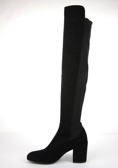Stuart Weitzman Suede Halftime Stretch-crepe Black Boots Image 7