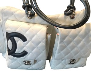 Chanel Satchel in white X Large bags