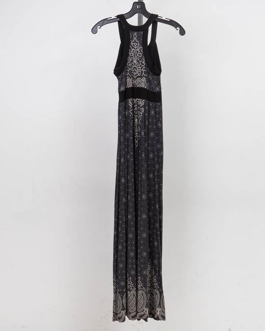 Black and gray Maxi Dress by Athleta Attached Bra Image 2