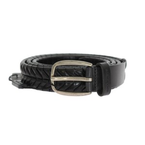 Dolce&Gabbana Black D10334-1 Leather Silver Buckle Belt (100 Cm / 40 Inches) Groomsman Gift