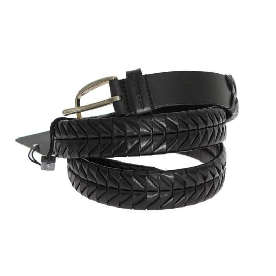 Dolce&Gabbana Black D10334-1 Leather Silver Buckle Belt (100 Cm / 40 Inches) Groomsman Gift Image 1