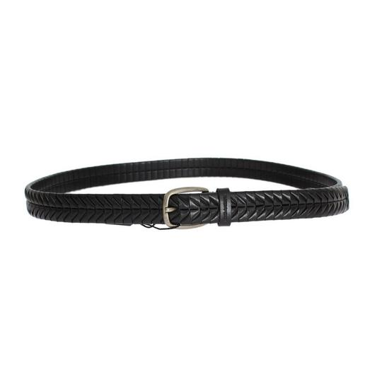 Dolce&Gabbana Black D10334-1 Leather Silver Buckle Belt (100 Cm / 40 Inches) Groomsman Gift Image 2