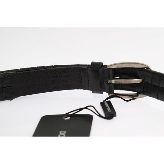 Dolce&Gabbana Black D10334-1 Leather Silver Buckle Belt (100 Cm / 40 Inches) Groomsman Gift Image 4
