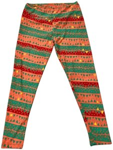 LuLaRoe Orange/Green Leggings