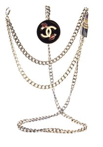Chanel Ultra Rare CC charms chain long two way necklace belt