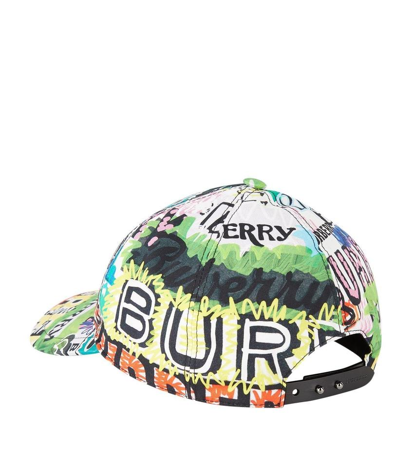 f206dcce84b Burberry BRAND NEW BURBERRY FONTS ARCHIVE LOGO PRINT MULTICOLORED BASEBALL  CAP Image 2. 123