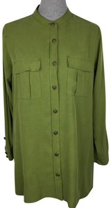 Soft Surroundings Button Down Shirt Green
