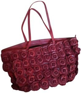 Clever Carriage Company Leather Tote in (1) RED (1) BLACK