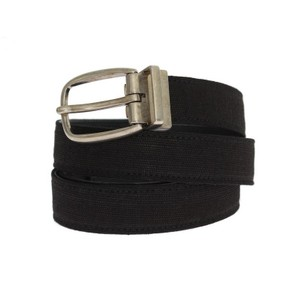 Dolce&Gabbana Black D10244-5 Linen Leather Belt (90 Cm / 36 Inches) Groomsman Gift