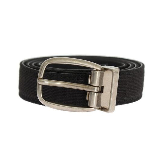 Dolce&Gabbana Black D10244-5 Linen Leather Belt (90 Cm / 36 Inches) Groomsman Gift Image 1