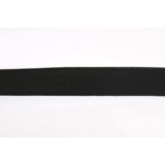 Dolce&Gabbana Black D10244-5 Linen Leather Belt (90 Cm / 36 Inches) Groomsman Gift Image 4