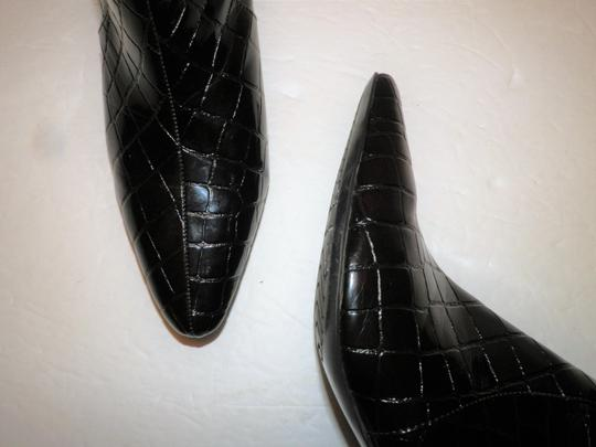 Bandolino Ankle Faux Leather Zipper Man Made Brown Boots Image 4