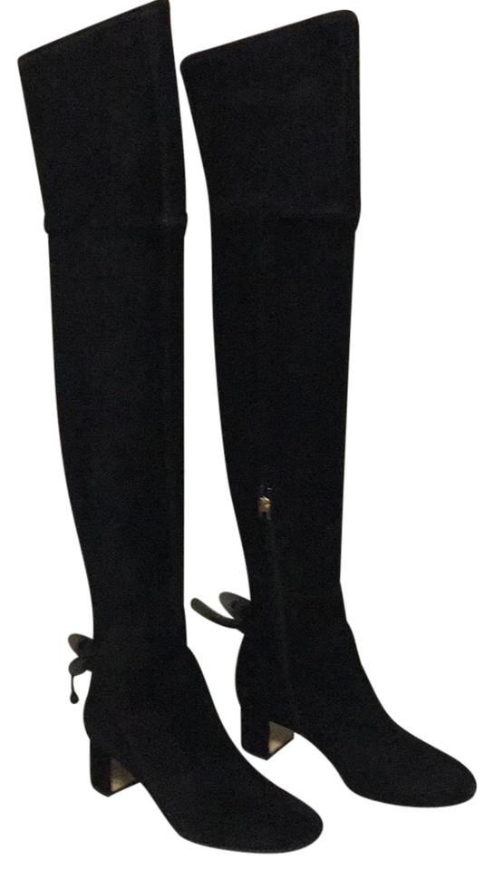 7b5fb22ed8f0 Tory Burch Black Laila Over The Knee Boots Booties Size US 7 Regular ...