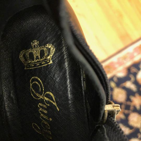 Juicy Couture 7m Leather Black Boots Image 4