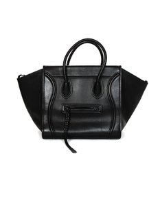 Céline Phantom Leather Tote in Black