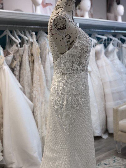 Ivory/Light Nude Lace Sequins 18113 Vanessa Sexy Wedding Dress Size 6 (S) Image 3