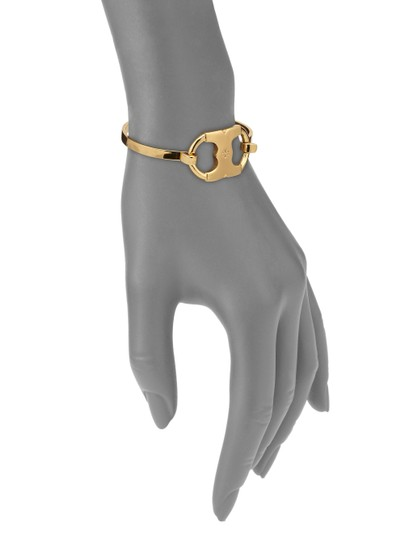 Tory Burch BRAND NEW Tory Burch Gemini Link I.D. Tag Bracelet with Dust Cover Image 2