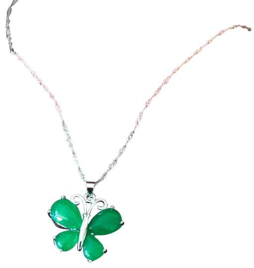 Preload https://img-static.tradesy.com/item/24432036/pure-silver-s925-jade-butterfly-with-silk-pouch-necklace-0-1-540-540.jpg