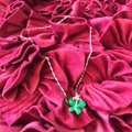 Unbranded Brand new pure silver S925 jade butterfly Necklace with a Beautiful silk pouch! Image 7