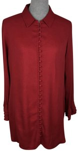 Soft Surroundings Button Down Shirt Red