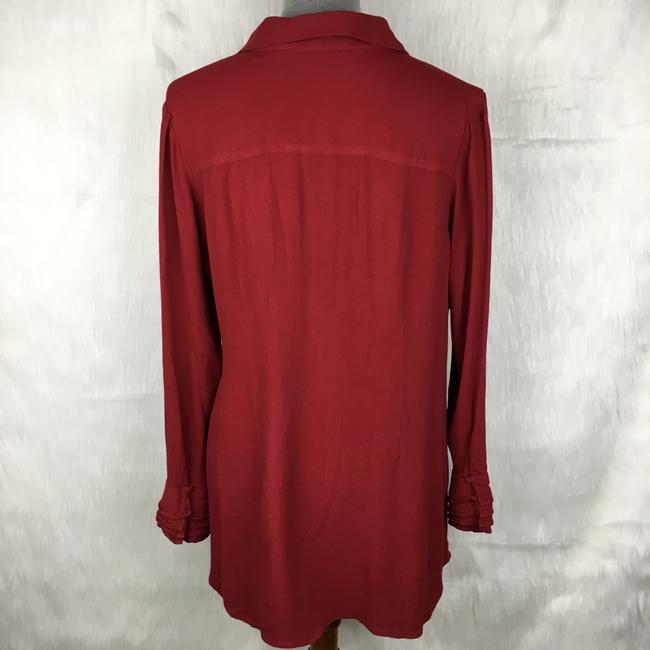 Soft Surroundings Button Down Shirt Red Image 1